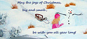 Wishes Mixed Media Posters - Joys of Christmas Poster by Barbara Griffin