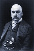Eyes To Camera Framed Prints - J.p. Morgan 1837-1913 American Banker Framed Print by Everett