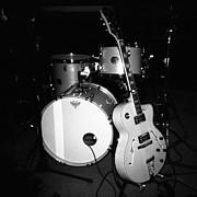 Jp Soars Guitar And Drum Kit Print by Kathy Hunt