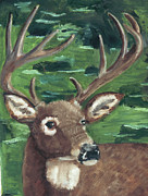 Rudolph Painting Prints - Js Buck Print by Terry Lewey