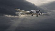 Storm Clouds Digital Art Prints - Ju52 -- Iron Annie Print by Pat Speirs