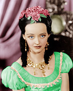 Gold Earrings Acrylic Prints - Juarez, Bette Davis, 1939 Acrylic Print by Everett