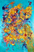 White And Blue Posters Mixed Media - Jubilation by Chitra Ramanathan