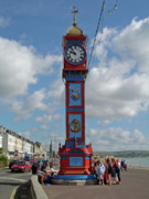 Esplanade Outdoors Posters - Jubilee Clock - Weymouth Poster by Rod Johnson