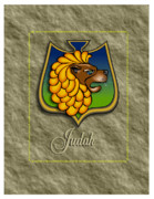Tribes Framed Prints - Judah Shield Framed Print by John D Benson