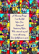 Invitations Paintings - Judaica Morning Prayer by Sandra Silberzweig