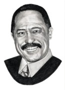 Famous People Drawings - Judge Joe Brown by Murphy Elliott