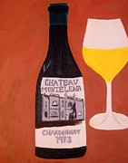 French Wine Bottles Prints - Judgement of Paris 1 Print by Kathleen Fitzpatrick