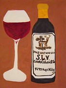 French Wine Bottles Paintings - Judgement of Paris 2 by Kathleen Fitzpatrick