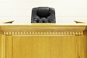 Authority Photos - Judges Bench and Chair by Skip Nall
