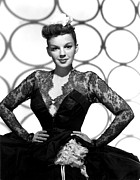 Lace Dress Prints - Judy Garland, Portrait, 1947 Print by Everett