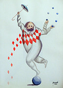 Equilibrium Paintings - Juggler by Fernando Pereznieto