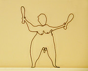 Alexander Calder Sculpture Prints - Juggler Print by Tommy  Urbans