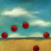 Juggling L Print by Katherine DuBose Fuerst