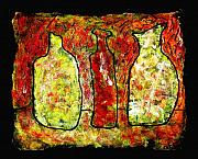 Jugs Painting Prints - Jugs Print by Wayne Potrafka