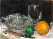 Antiques Paintings - Juice Anyone by Larry Christensen
