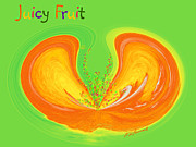 Juicy Digital Art Posters - Juicy Fruit Poster by Methune Hively