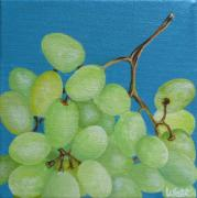 White Grapes Framed Prints - Juicy Grapes Framed Print by Tammy Watt