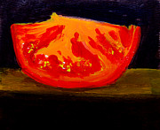Food And Beverage Paintings - Juicy Tomato by Patricia Awapara