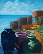 Crocks Metal Prints - Juju Jars - Cancun Metal Print by Lorraine McFarland