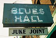 Sign Photo Framed Prints - Juke Joint Framed Print by Jame Hayes