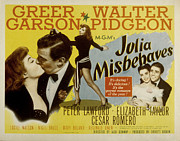 Garson Framed Prints - Julia Misbehaves, Greer Garson, Walter Framed Print by Everett