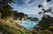 Pfeiffer Beach Photos - Julia Pfeifer Falls by Mike Raabe