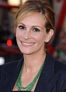 Glass Beads Framed Prints - Julia Roberts At Arrivals For Larry Framed Print by Everett