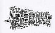 Wordcloud Prints - Julian Castro Speech at D N C Print by David Bearden