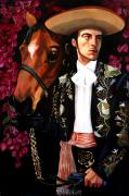 Mexican Horse Paintings - Julian by Maryann Luera