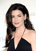 Drop Earrings Metal Prints - Julianna Margulies At Arrivals Metal Print by Everett