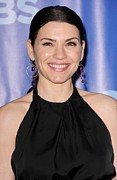 Hoop Earrings Posters - Julianna Margulies At Arrivals For Cbs Poster by Everett