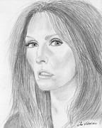 Portrait Art Posters - Julianne Moore Poster by Jose Valeriano