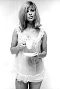 Negligee Framed Prints - Julie Christie In The Mid 1960s Framed Print by Everett