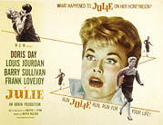 1956 Movies Photo Posters - Julie, Louis Jourdan, Doris Day, 1956 Poster by Everett