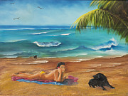 Marcel Quesnel - Julie with Her Dogs