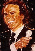 Crooner Framed Prints - Julio Iglesias Framed Print by Shaktima Brien