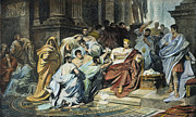 Julius Von Framed Prints - Julius Caesar (100-44 B.c.) Framed Print by Granger