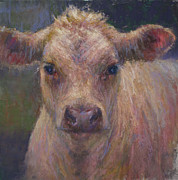 Farm Animals Pastels Prints - Julius Print by Susan Williamson