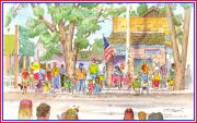 4th July Paintings - July 4th 2000 by John Norman Stewart