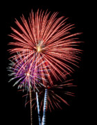 Burst Prints - July 4th Fireworks in Arizona 3 Print by Steven Love