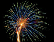 Burst Prints - July 4th Fireworks in Arizona 5 Print by Steven Love