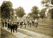 Marching Acrylic Prints - July 4th Parade 1891 Acrylic Print by Jan Faul