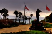 Clemente Digital Art Framed Prints - July 4th San Clemente Flyover Framed Print by Barbara Radcliffe