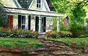 4th July Paintings - July 4th by Steven W Schultz