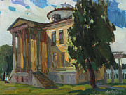 Modern Russian Art Posters - July day in Russian estate Poster by Juliya Zhukova