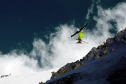Alpine Skiing Prints Photo Posters - Jump Poster by Iurii Zaika