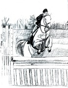 Pony Drawings Originals - Jumper Pony by Lisa Guarino