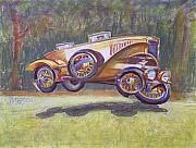 Gary Peterson Metal Prints - Jumpin Auburn Car Metal Print by Gary Peterson