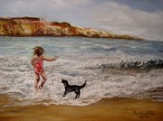 Figures Pastels - Jumping for Joy by Pam Schofield